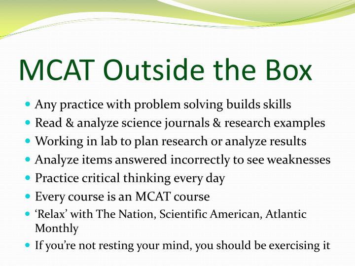MCAT Outside the Box