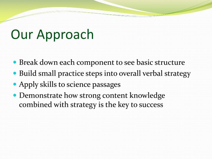 Our Approach