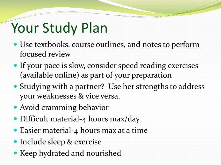 Your Study Plan