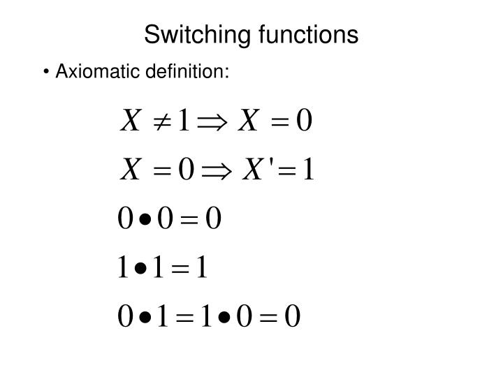 Switching functions1