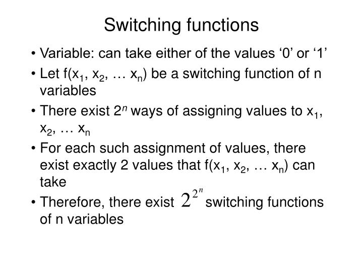 Switching functions2