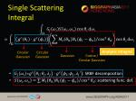 single scattering integral1