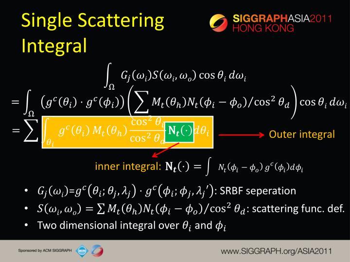 Single Scattering