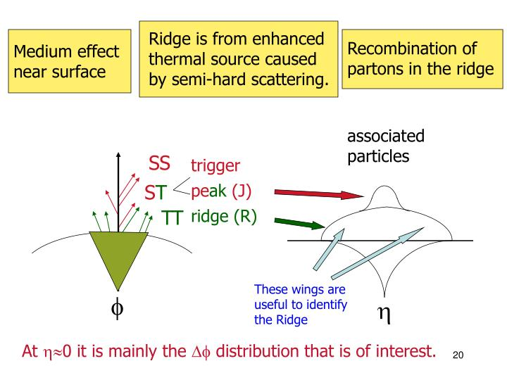 Recombination of partons in the ridge