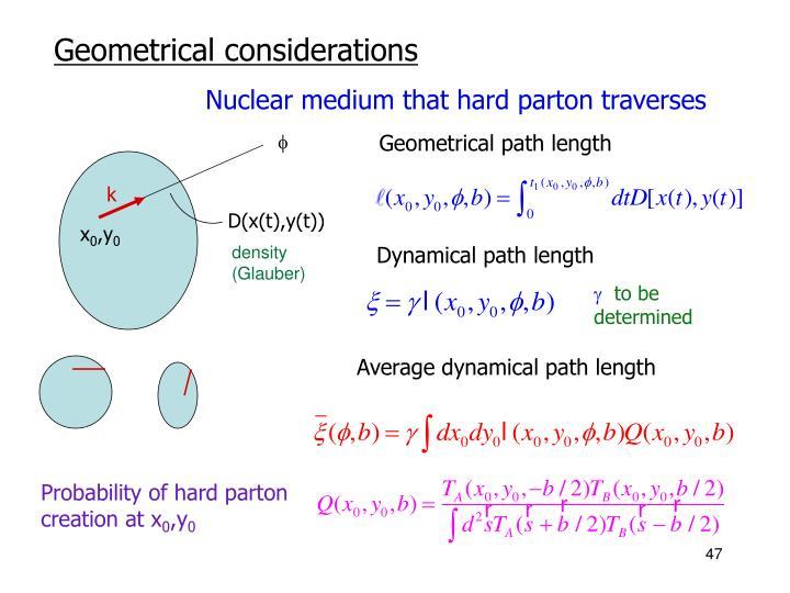 Nuclear medium that hard parton traverses
