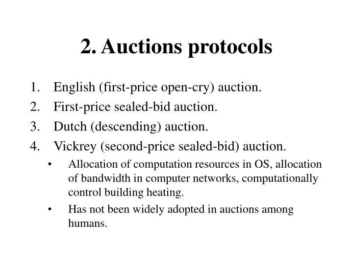 2. Auctions protocols
