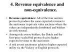 4 revenue equivalence and non equivalence