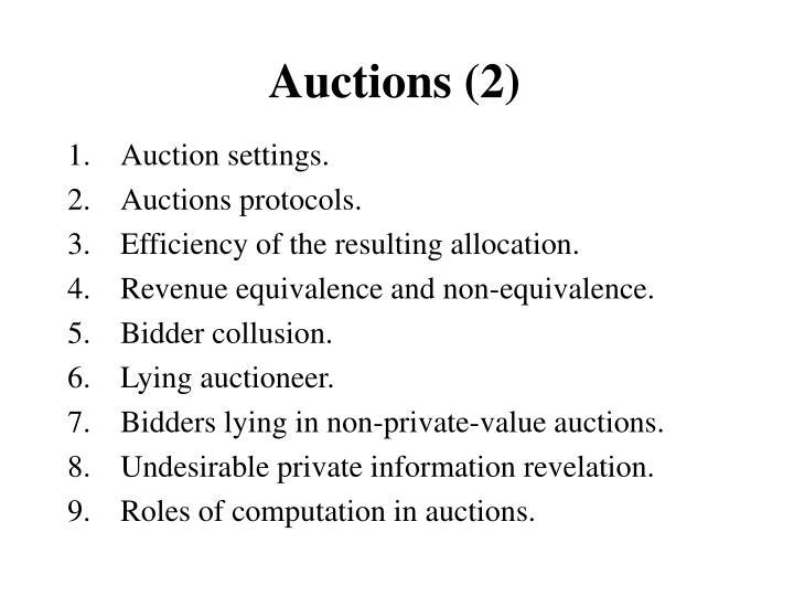 Auctions (2)