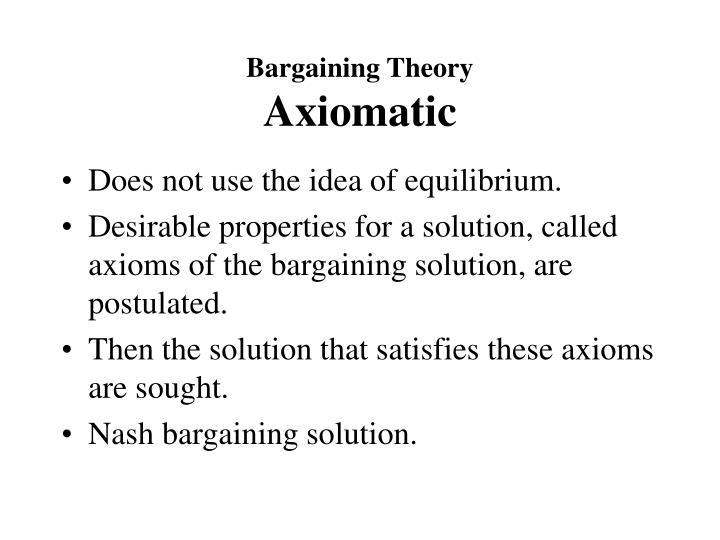 Bargaining Theory