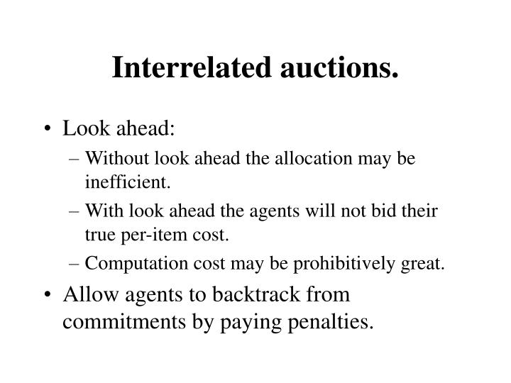 Interrelated auctions.