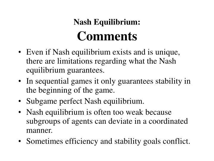 Nash Equilibrium: