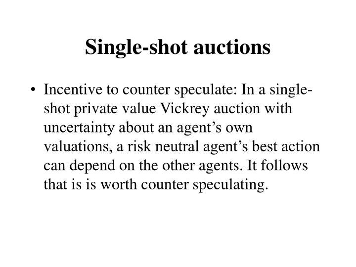 Single-shot auctions