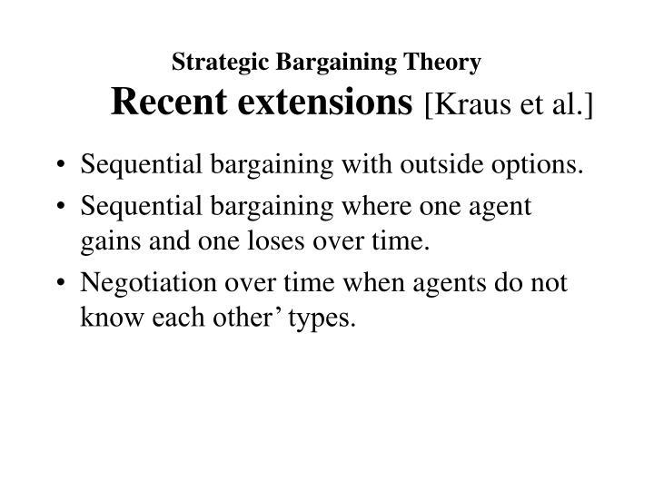 Strategic Bargaining Theory