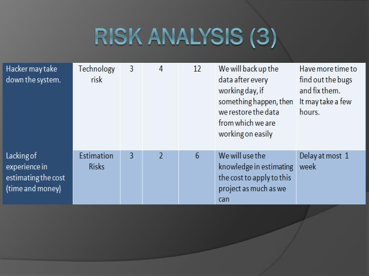 Risk Analysis (3)