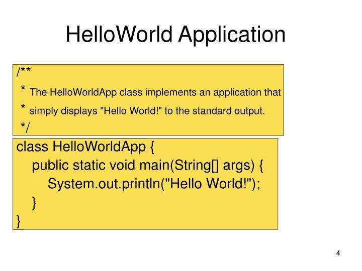 HelloWorld Application