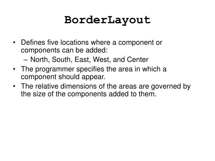 BorderLayout