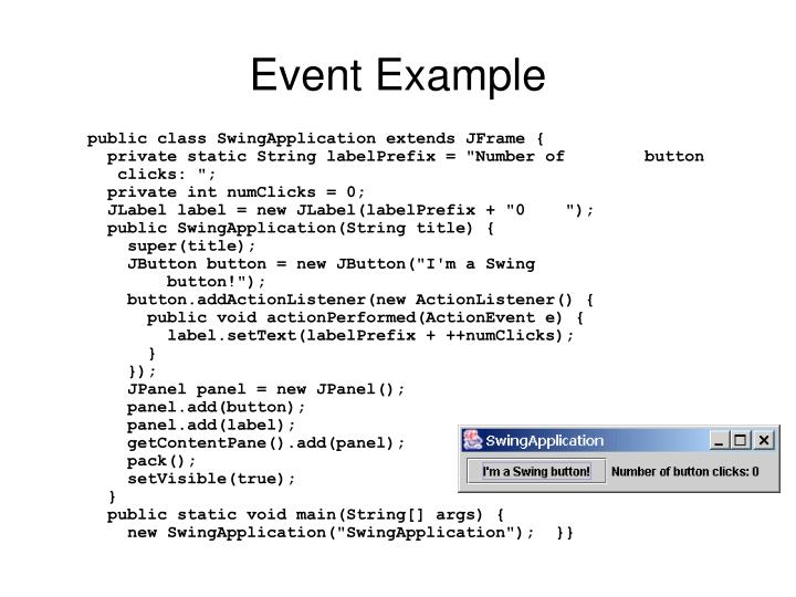 Event Example