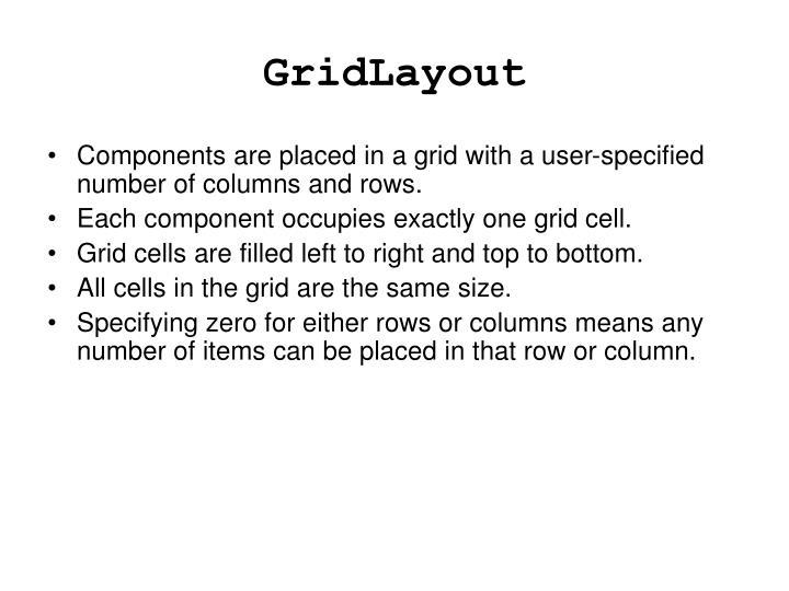 GridLayout
