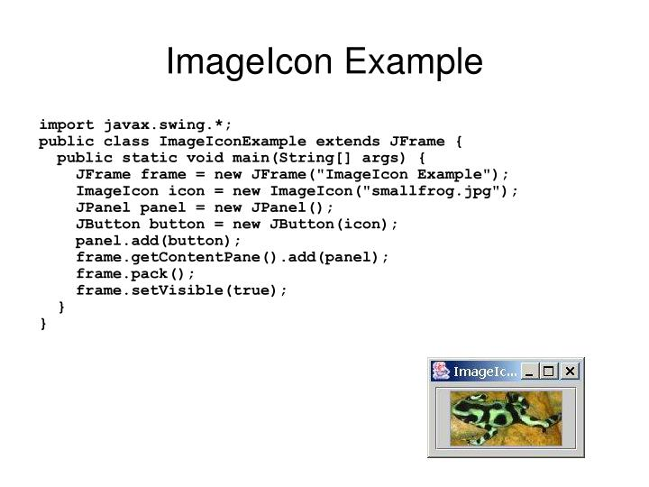ImageIcon Example