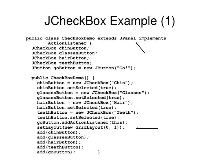JCheckBox Example (1)
