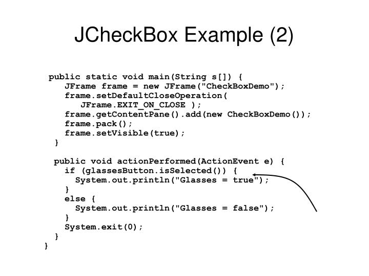 JCheckBox Example (2)