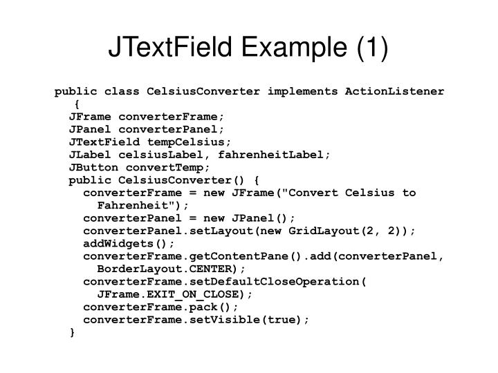 JTextField Example (1)
