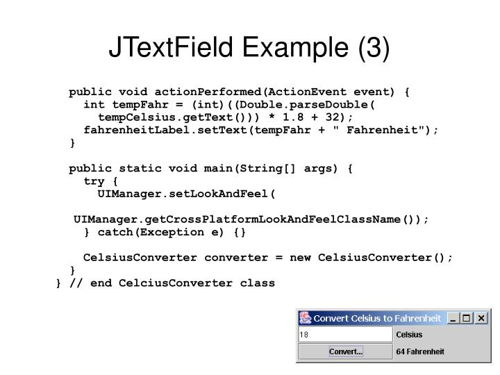 JTextField Example (3)