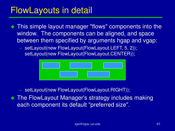 FlowLayouts in detail