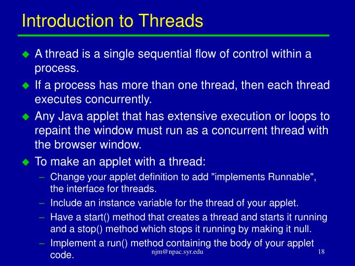 Introduction to Threads