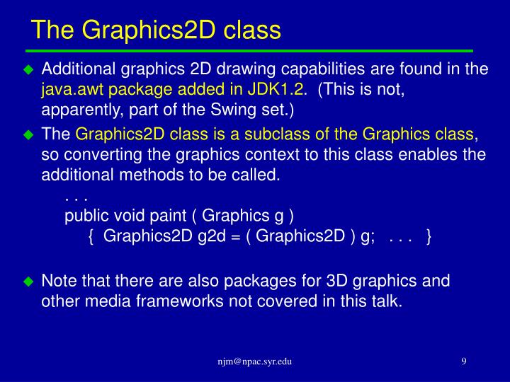 The Graphics2D class