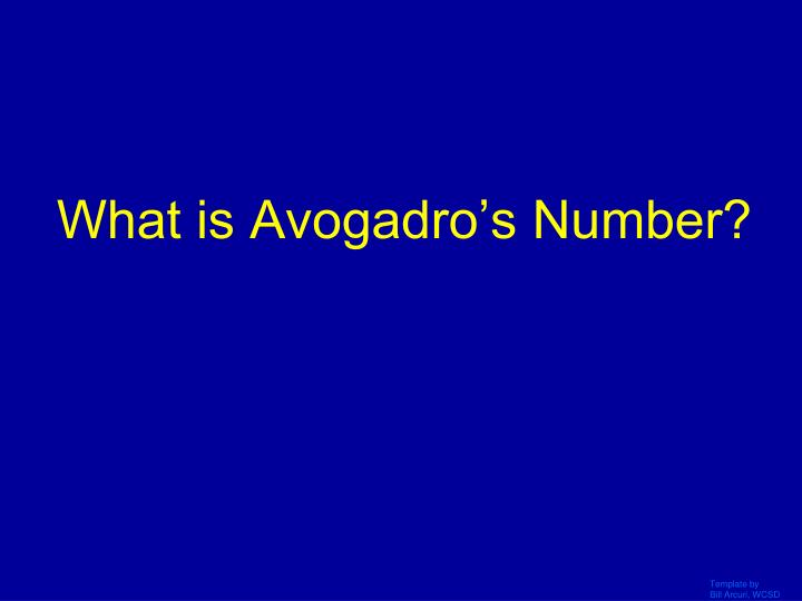 What is Avogadro's Number?