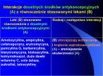 interakcje doustnych rodk w antykoncepcyjnych a z r wnocze nie stosowanymi lekami b