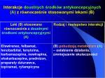interakcje doustnych rodk w antykoncepcyjnych a z r wnocze nie stosowanymi lekami b1