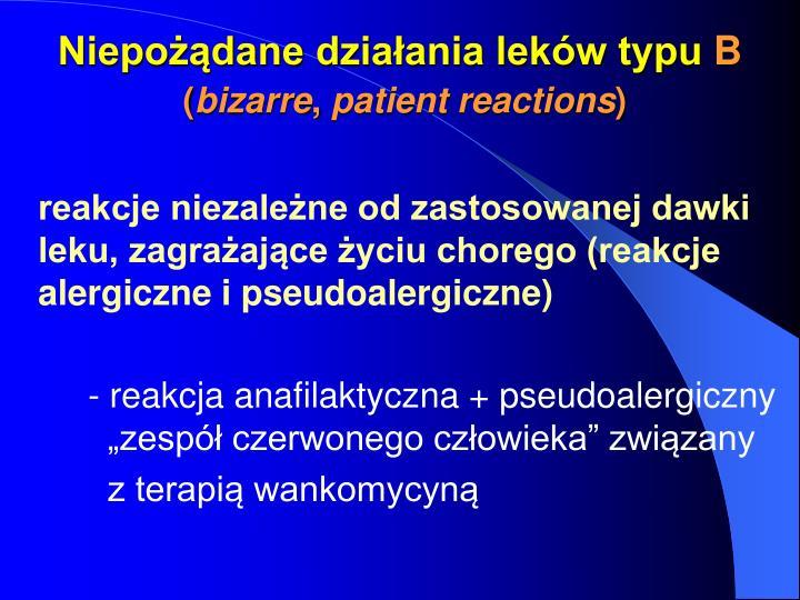 Niepożądane działania leków typu