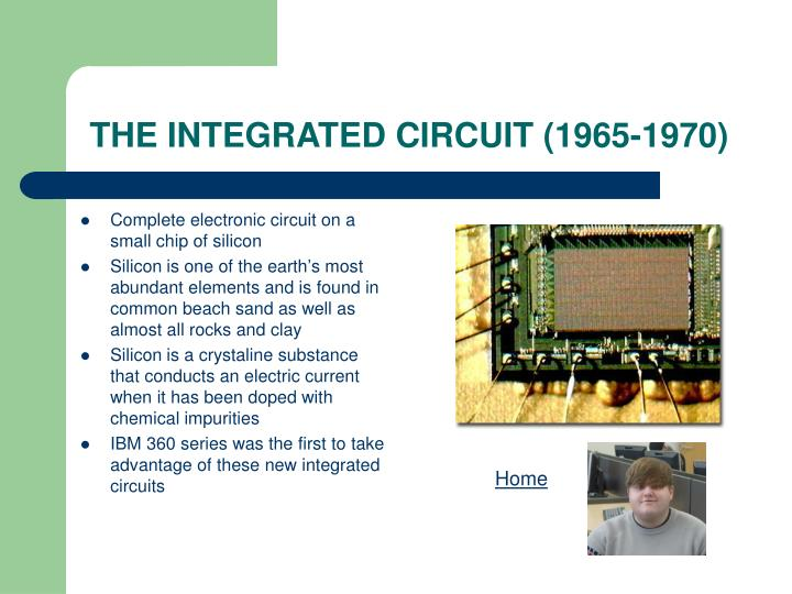 THE INTEGRATED CIRCUIT (1965-1970)