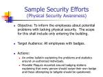 sample security efforts physical security awareness