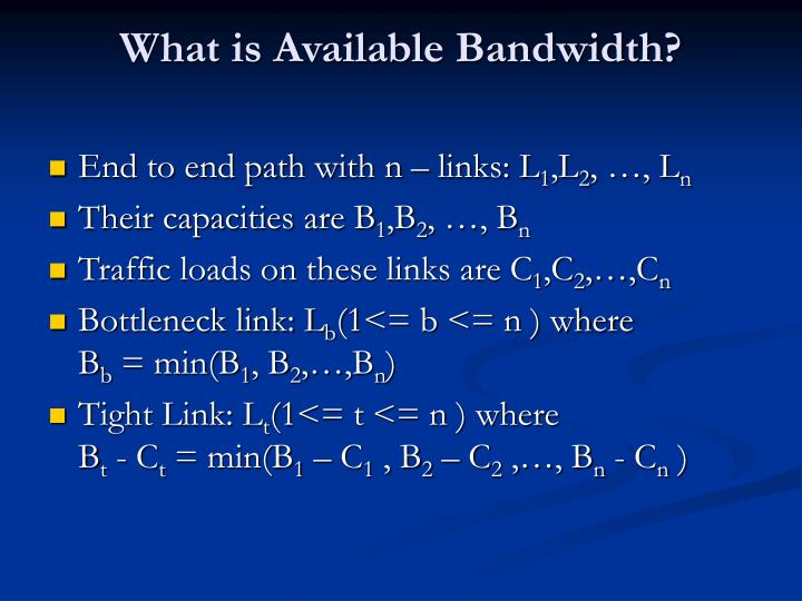What is Available Bandwidth?