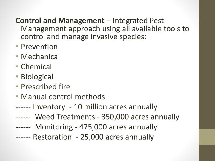 Control and Management