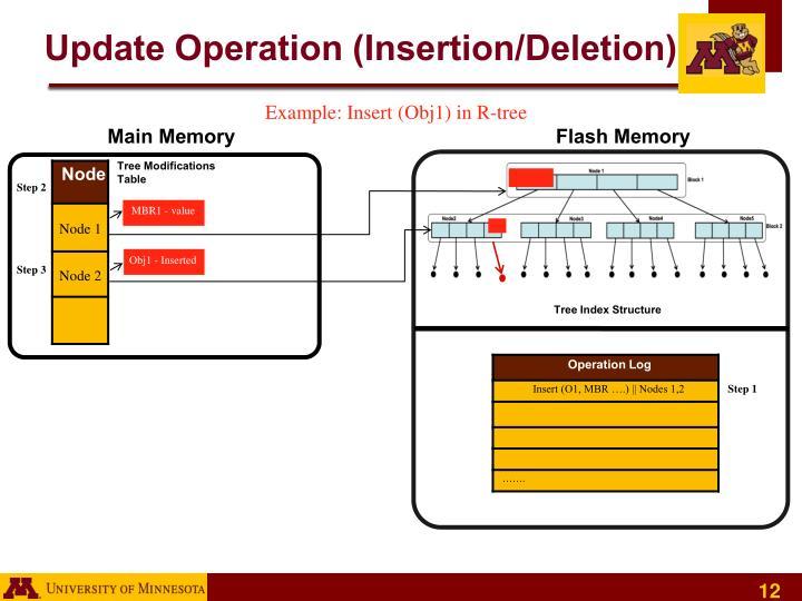 Update Operation (Insertion/Deletion)