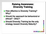raising awareness diversity training