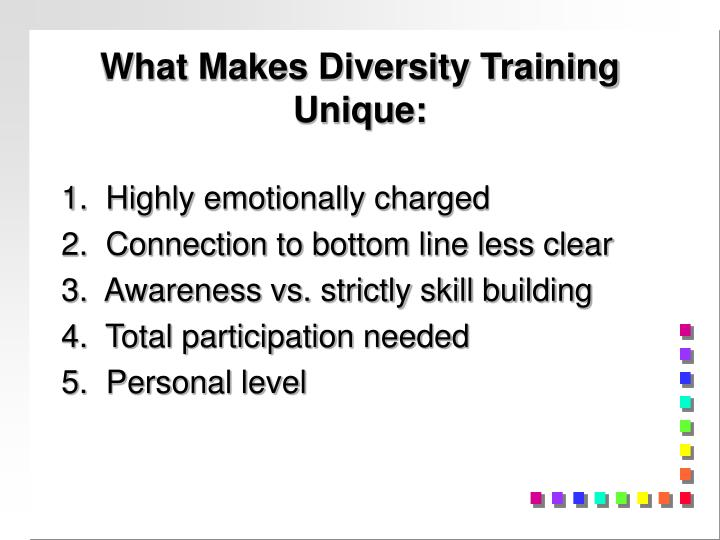 What Makes Diversity Training