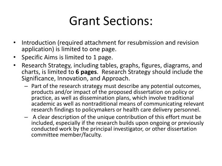 Grant Sections: