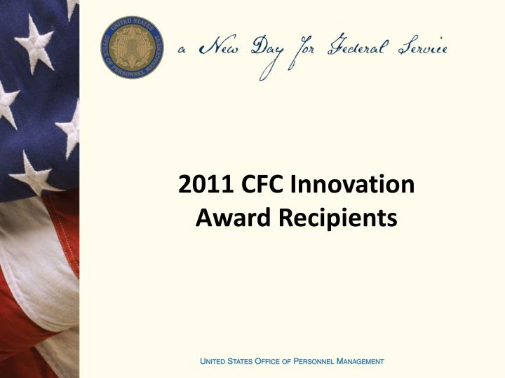 2011 CFC Innovation Award Recipients