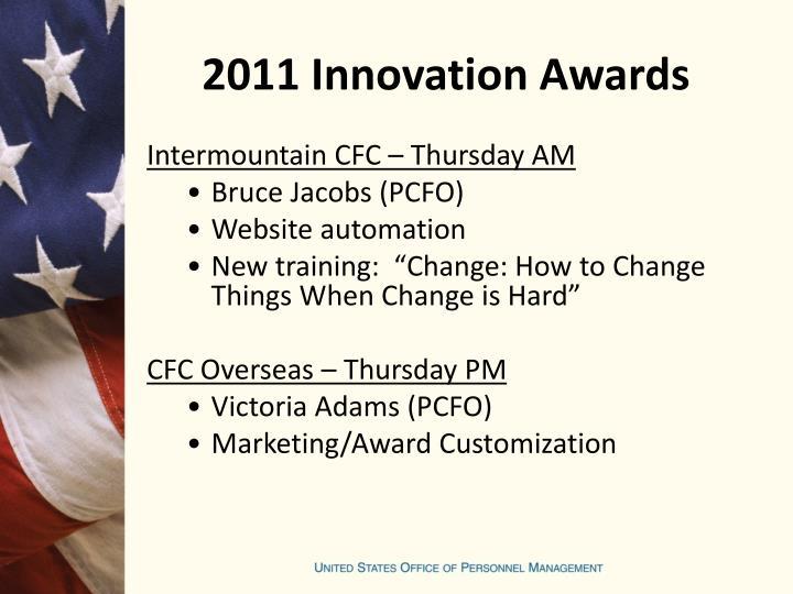 2011 Innovation Awards