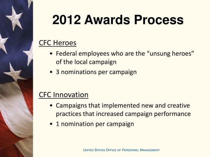 2012 Awards Process