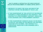 how to award a contractual ppp which does not involve the establishment of a mixed capital entity