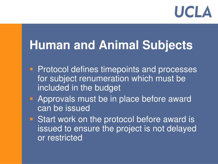 Human and Animal Subjects
