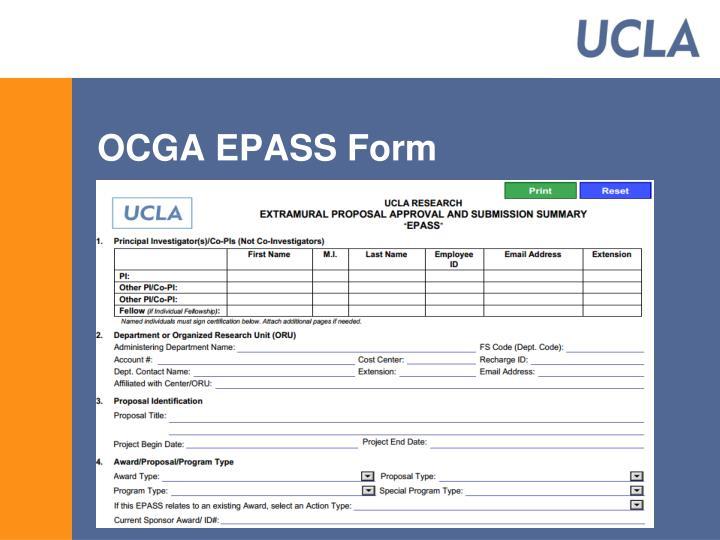 OCGA EPASS Form