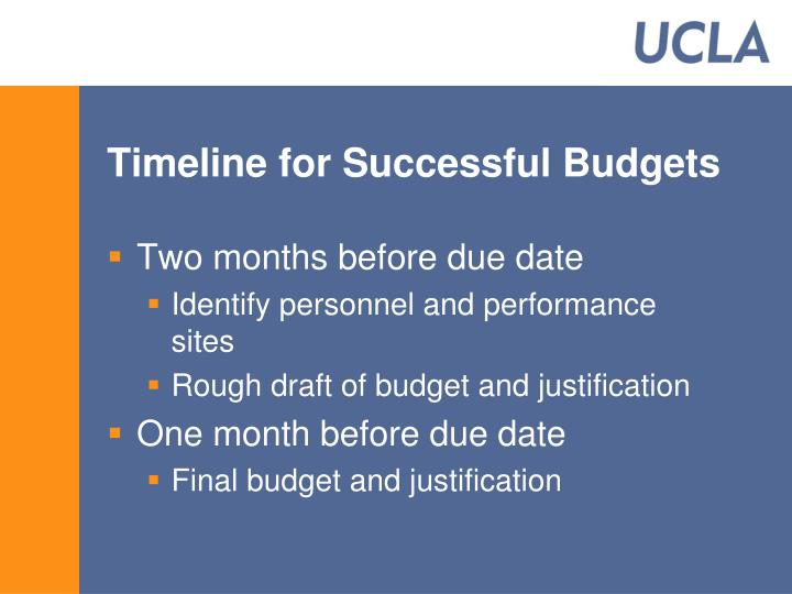 Timeline for Successful Budgets