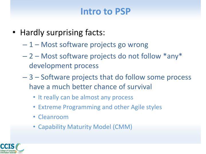 Intro to PSP